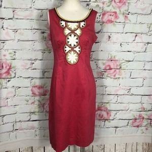 Boden sleeveless beaded embroidered sheath dress